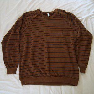 American Apparel Striped Pullover Sweater XL